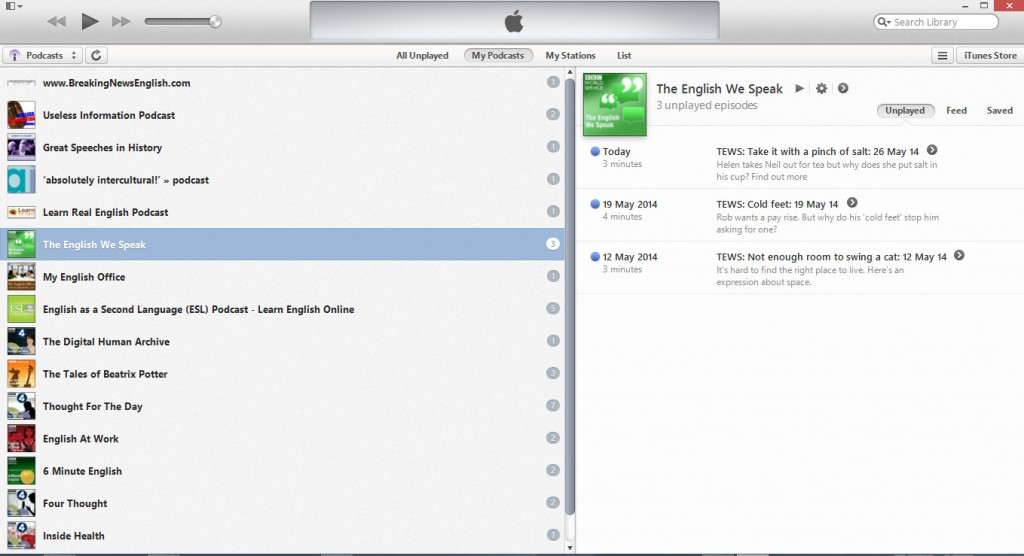 examples of podcasts on iTunes